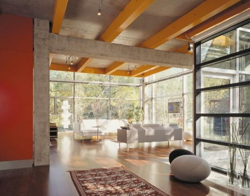 image named 21 Living Rooms With Huge Picture Windows title