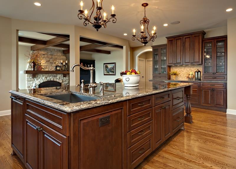 26 Stunning Kitchen Island Designs-1