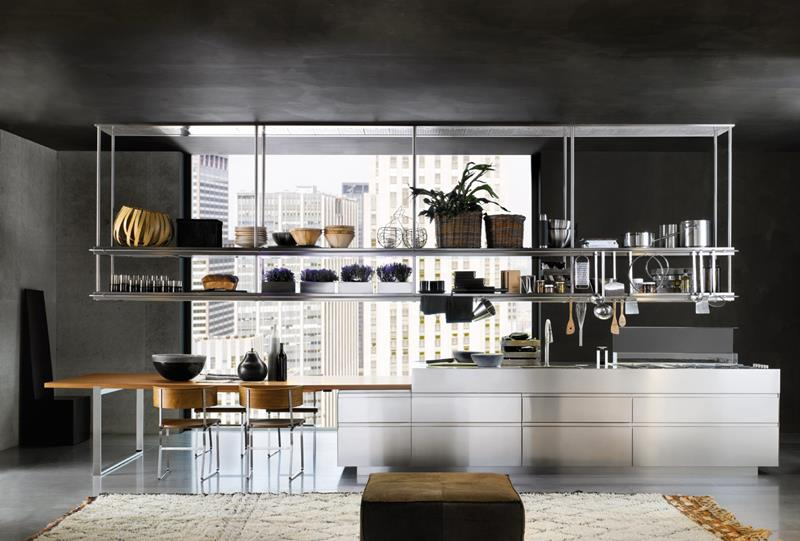 21 Sleek and Modern Metal Kitchen Designs-12