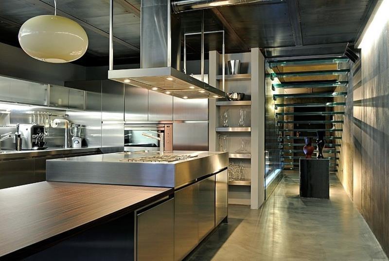 21 Sleek and Modern Metal Kitchen Designs-13