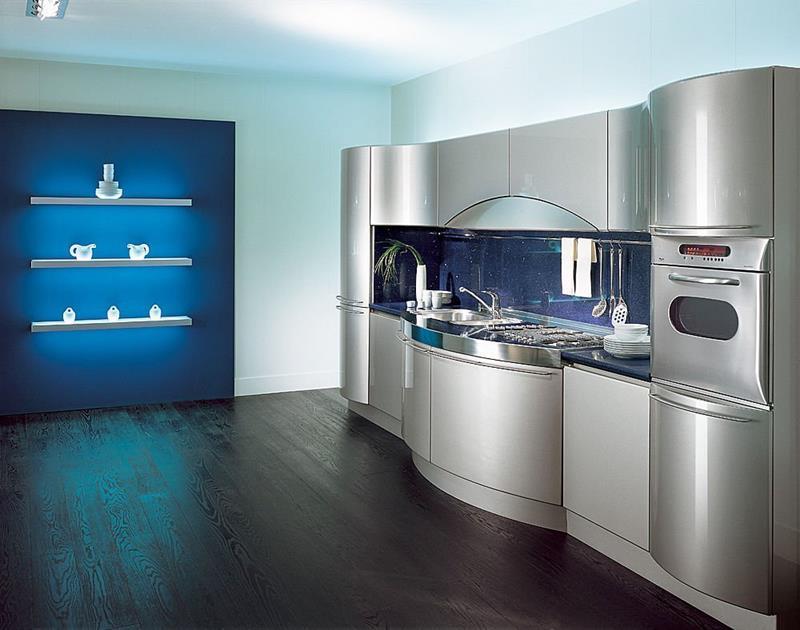 21 Sleek and Modern Metal Kitchen Designs-2