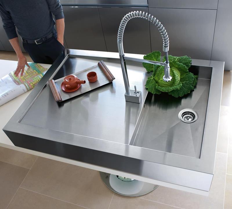 21 Sleek and Modern Metal Kitchen Designs-21