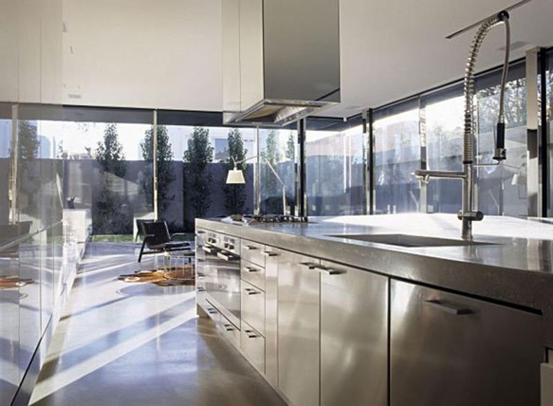 image named 21 Sleek and Modern Metal Kitchen Designs title