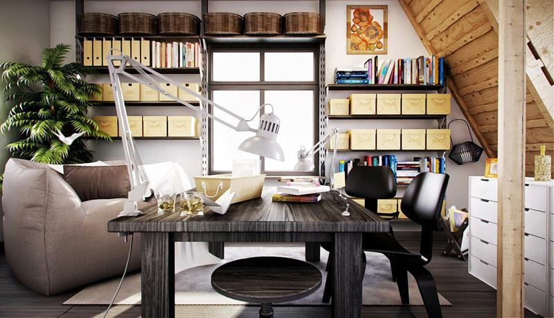 23 Amazingly Cool Home Office Designs-23