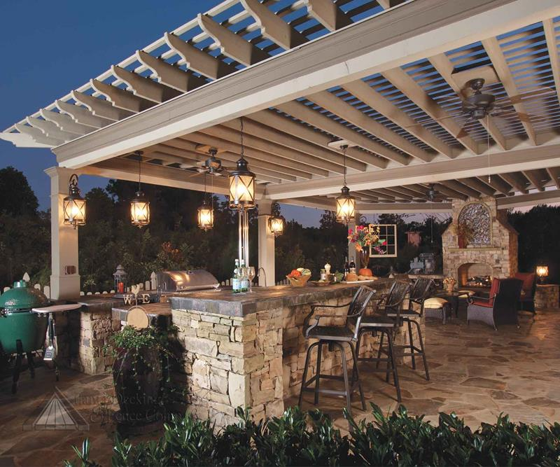 25 Outdoor Kitchen Designs That Will Light Up Your Grill-16