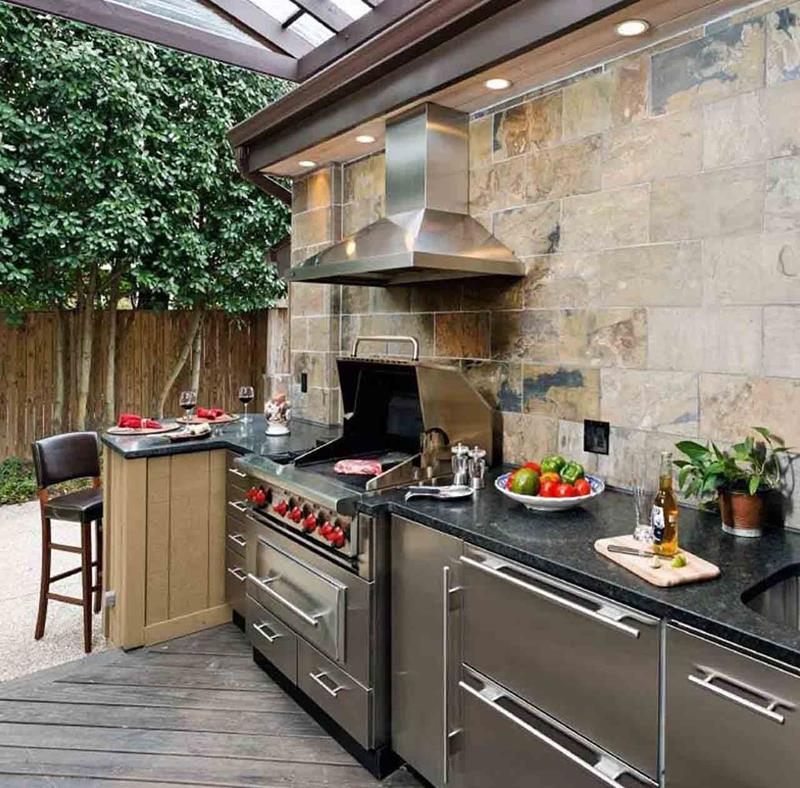 25 Outdoor Kitchen Designs That Will Light Up Your Grill-20
