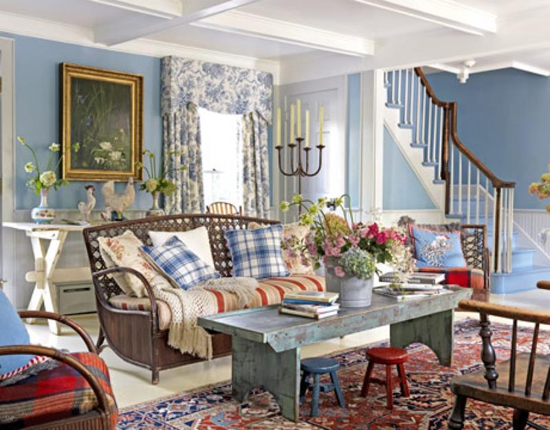 22 Cozy Country Living Room Designs-20