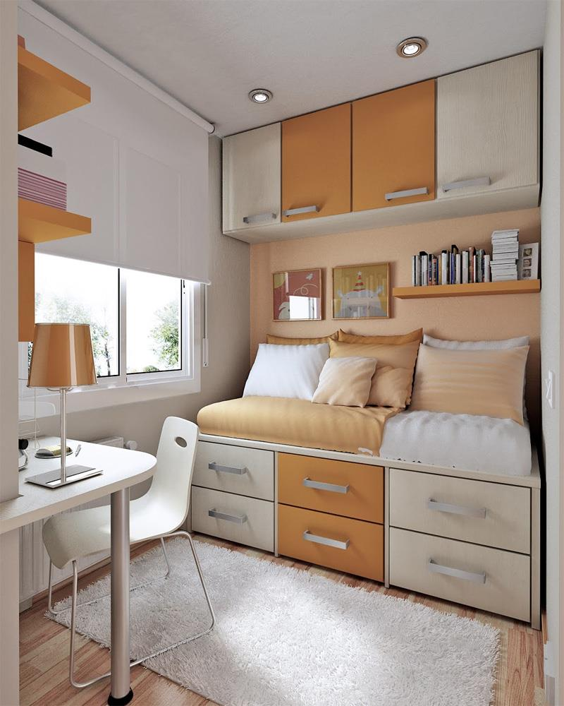 23 Efficient and Attractive Small Bedroom Designs-7