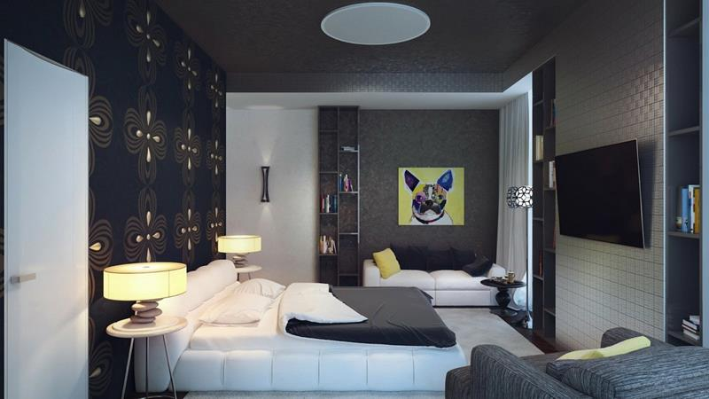 25 Dark Master Bedroom Designs Perfect for Snoozing-15