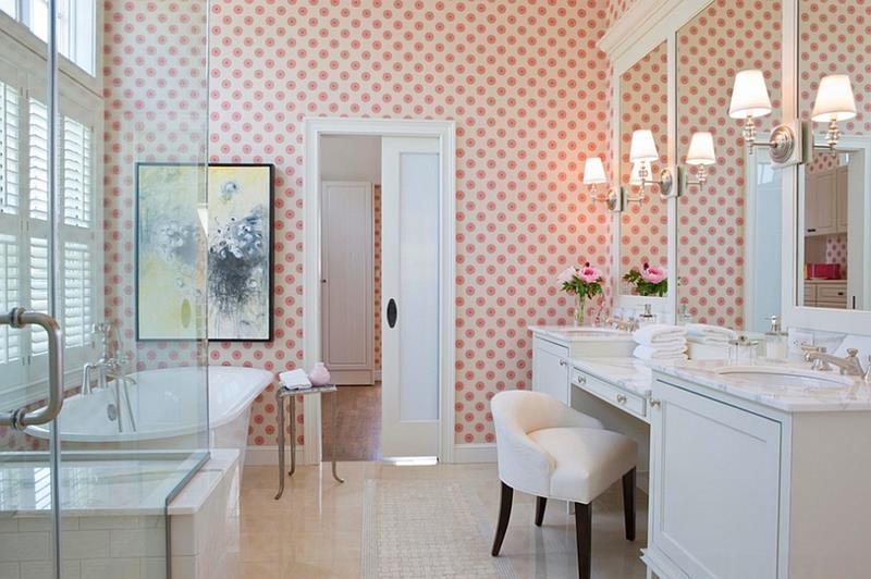25 Serene and Feminine Bathroom Designs-1
