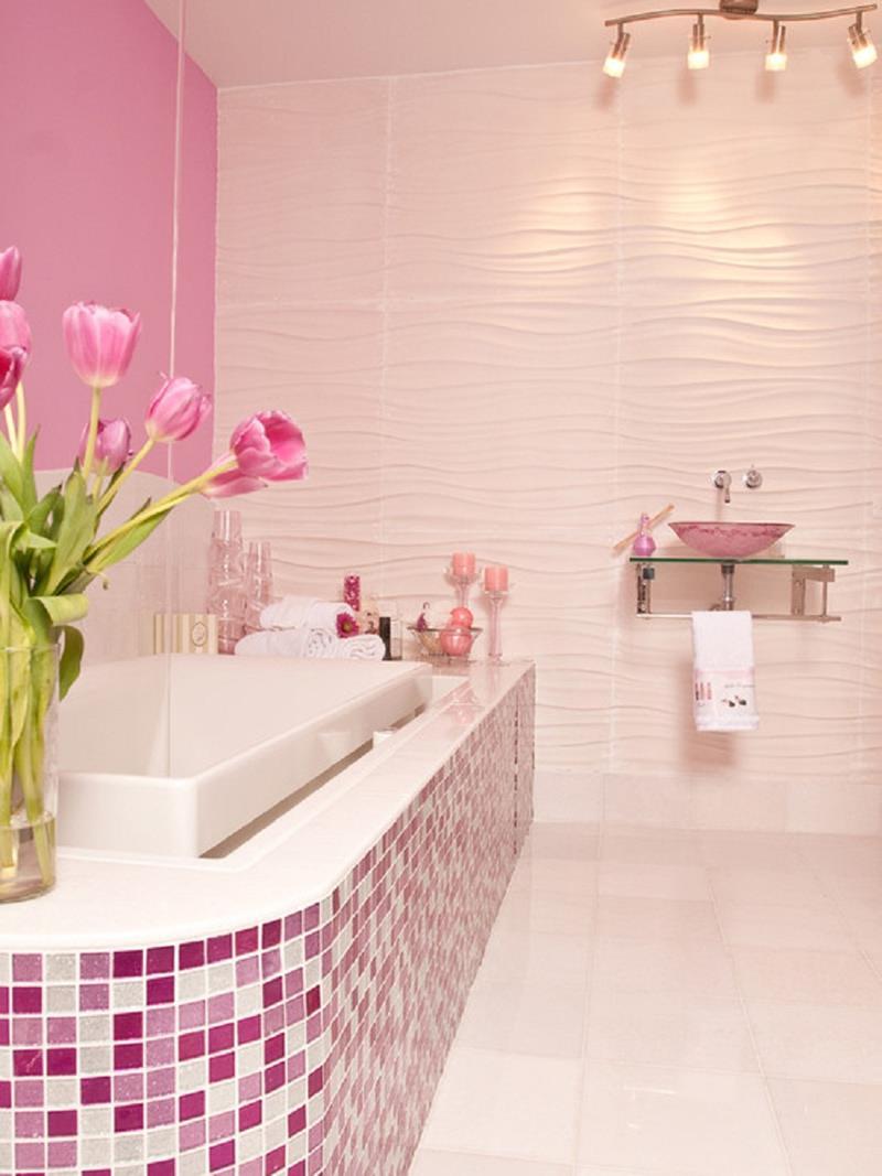 25 Serene and Feminine Bathroom Designs-14