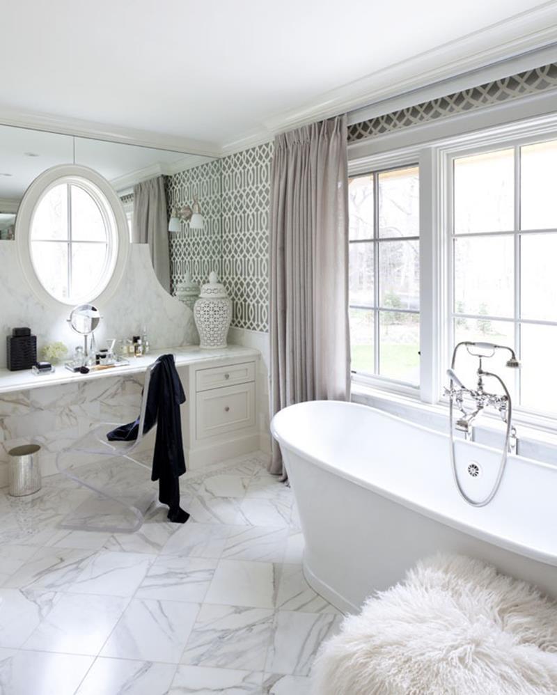 25 Serene and Feminine Bathroom Designs-25