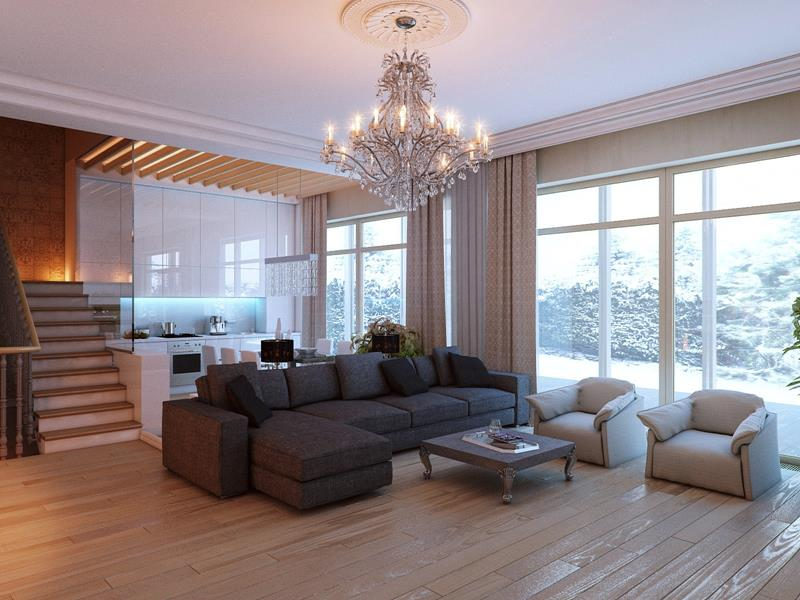 25 Stunning Living Rooms With Hardwood Floors-12