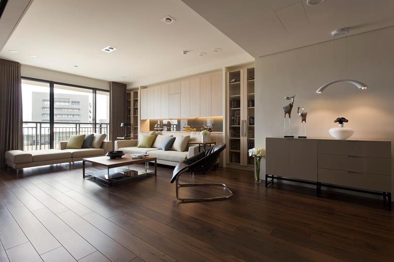 25 Stunning Living Rooms With Hardwood Floors-24