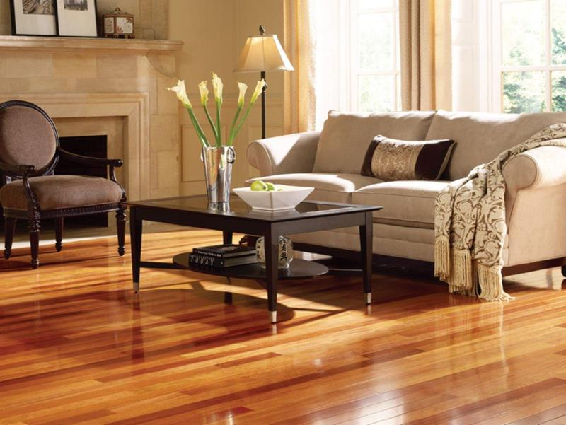 image named 25 Stunning Living Rooms With Hardwood Floors title