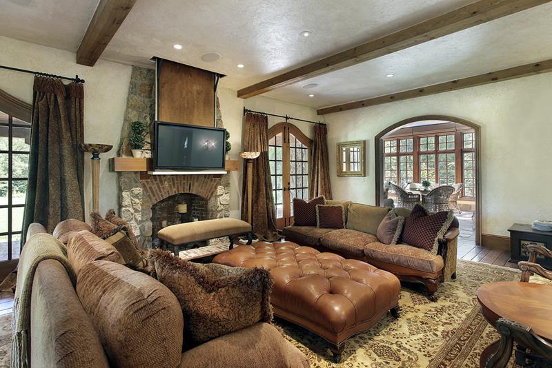 25 Super Masculine Living Room Designs-10