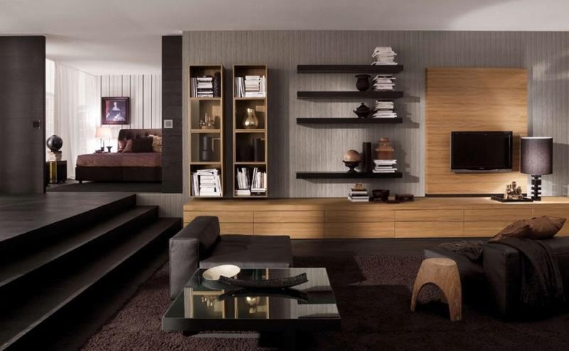 25 Super Masculine Living Room Designs-11