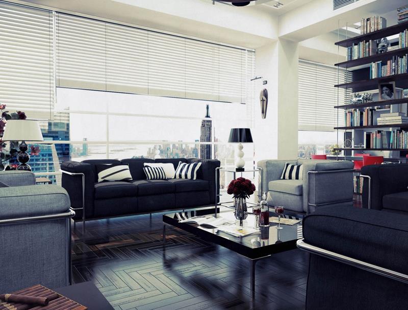 25 Super Masculine Living Room Designs-12