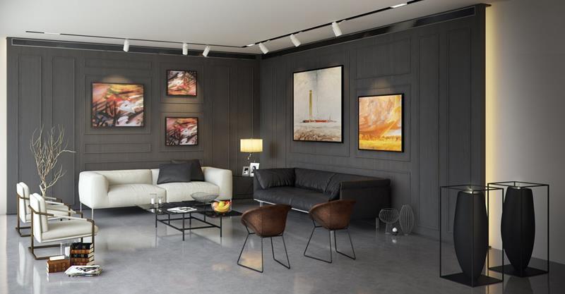 25 Super Masculine Living Room Designs-13