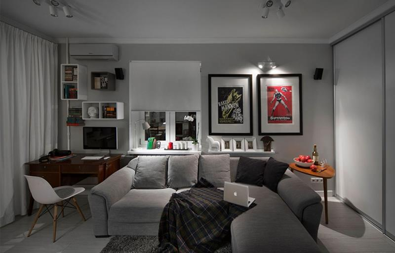 25 Super Masculine Living Room Designs-14