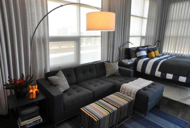 25 Super Masculine Living Room Designs-7