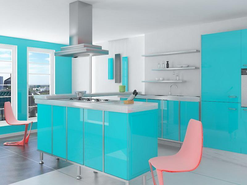 26 Eye Catching Blue Kitchen Designs-3