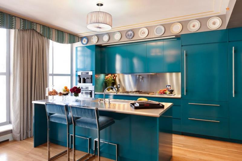 26 Eye Catching Blue Kitchen Designs-title