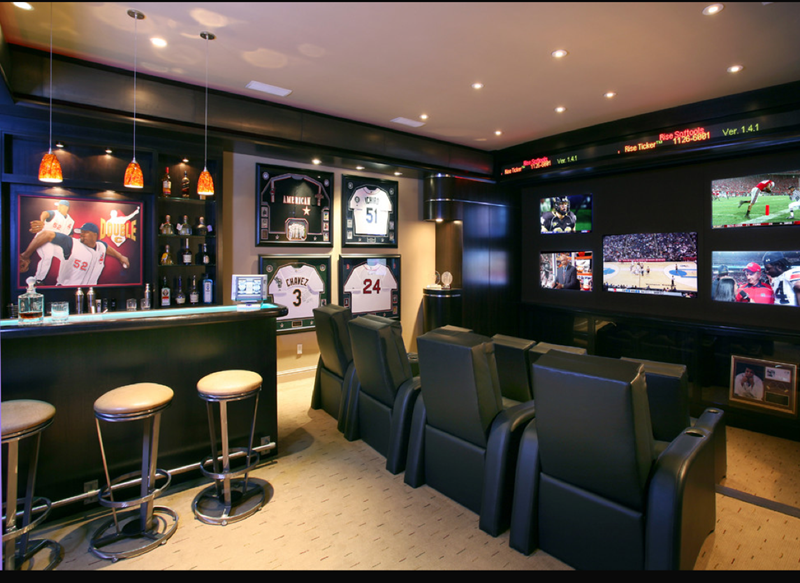 image named 27 Awesome Man Caves Before Football Season title