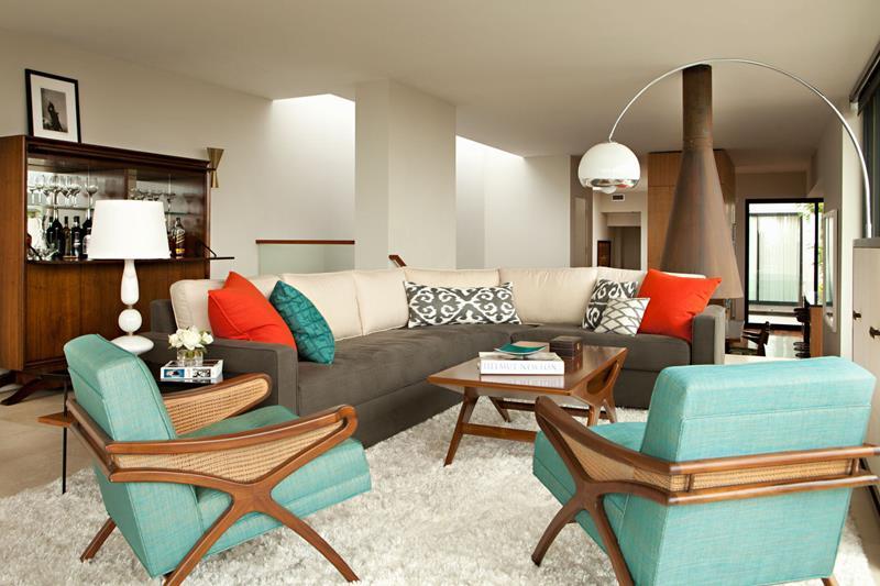 27 Beautiful Mid Century Living Room Designs-13