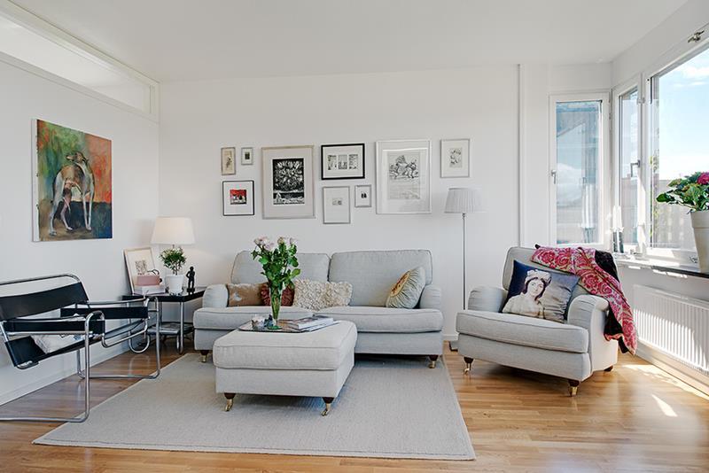 Cozy Living Room Charming Masthuggsliden 22 Apartment Interior Design