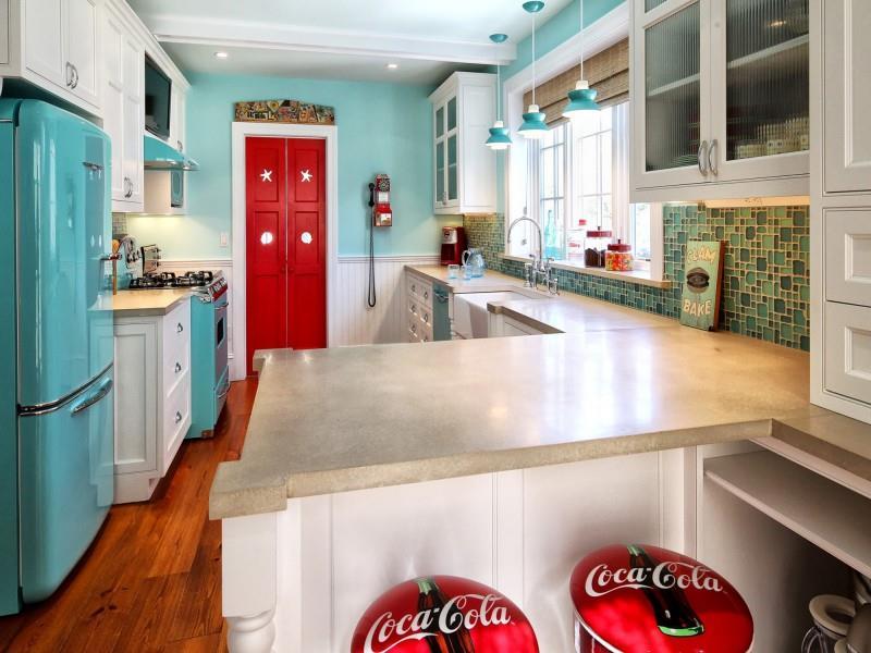 27 Retro Kitchen Designs That Are Back to the Future-4