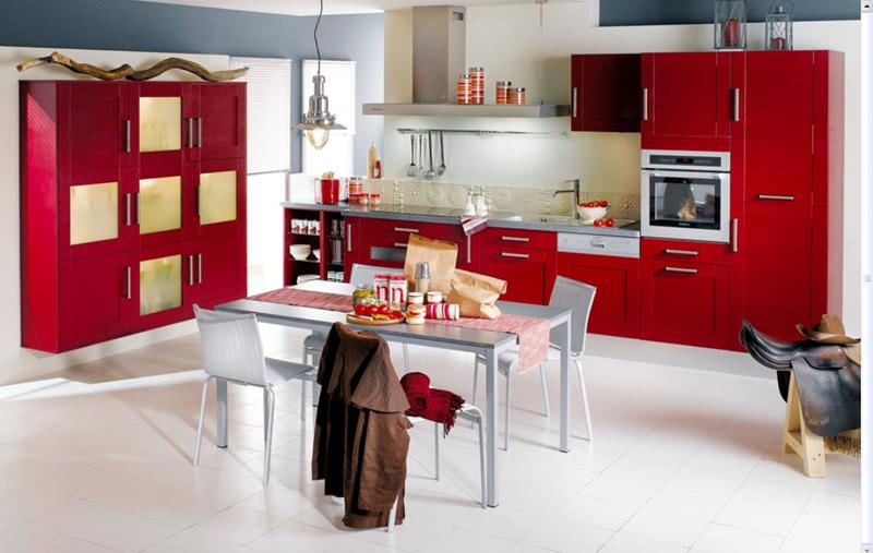 27 Totally Awesome Red Kitchen Designs-1