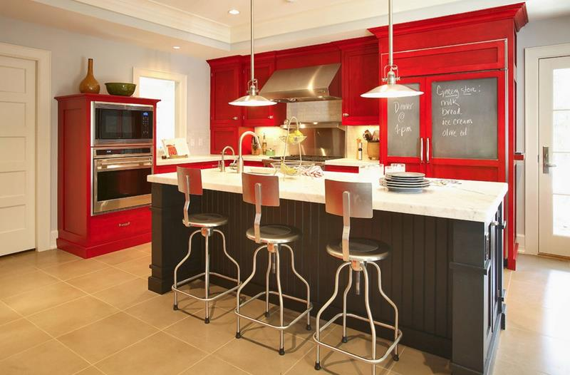 27 Totally Awesome Red Kitchen Designs-7
