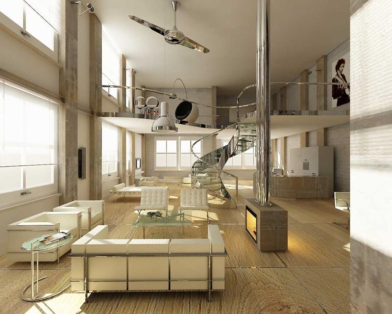 127 Luxury Living Room Designs-89