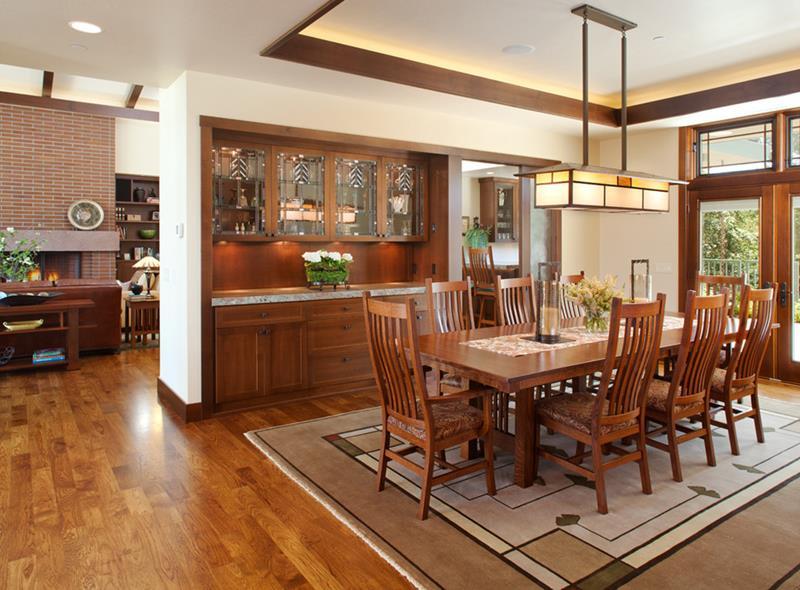 22 Amazing Craftsman Dining Room Designs-10