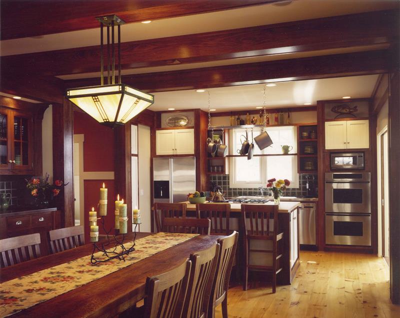 22 Amazing Craftsman Dining Room Designs-20