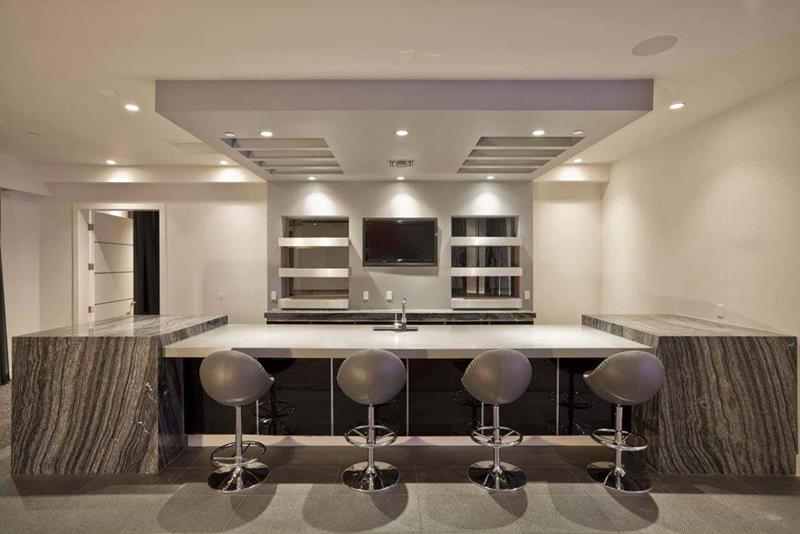 22 Finished Basement Contemporary Design Ideas-2