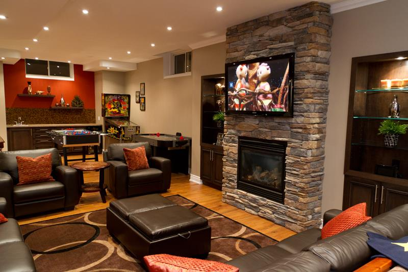 23 Amazing Finished Basement Theaters for Movie Time-15