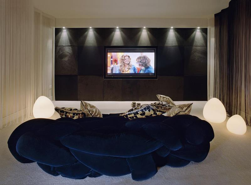 23 Amazing Finished Basement Theaters for Movie Time-23