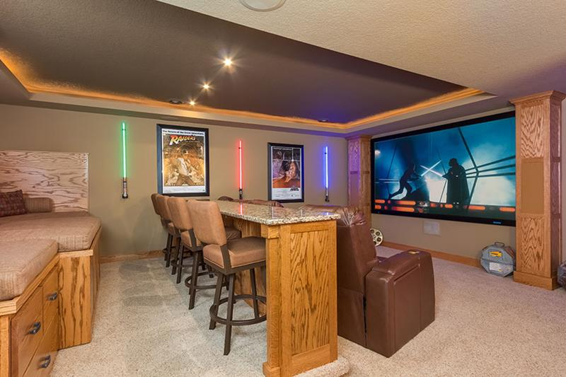 23 Amazing Finished Basement Theaters for Movie Time-9