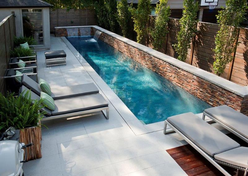 Modern Backyard Design Small Backyard Swimming Pool Lounge Enclose Patio