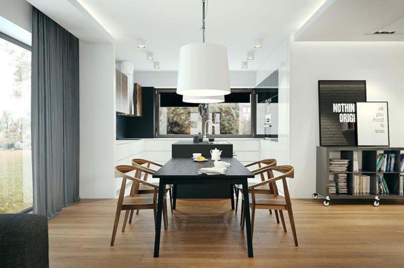23 Sleek Contemporary Dining Room Designs-16