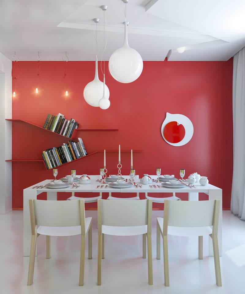 23 Sleek Contemporary Dining Room Designs-17