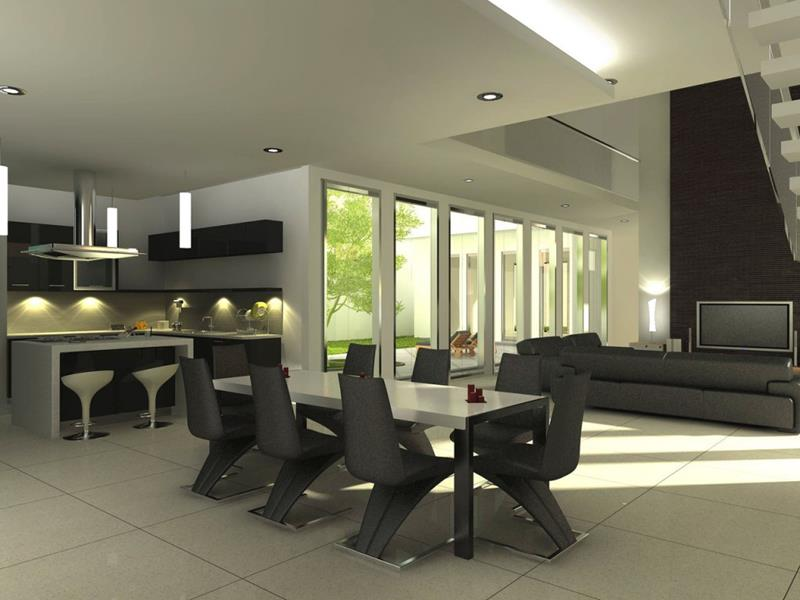 23 Sleek Contemporary Dining Room Designs-title