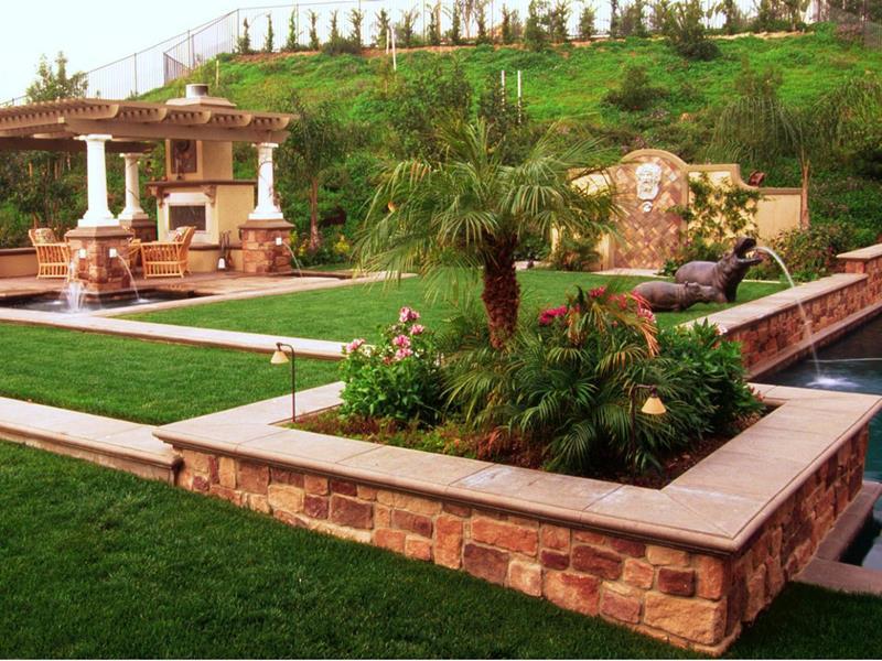 image named 24 Beautiful Backyard Landscape Design Ideas title