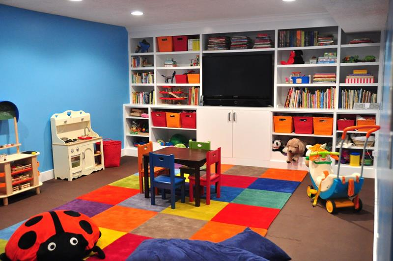 24 Child Friendly Finished Basement Designs-11