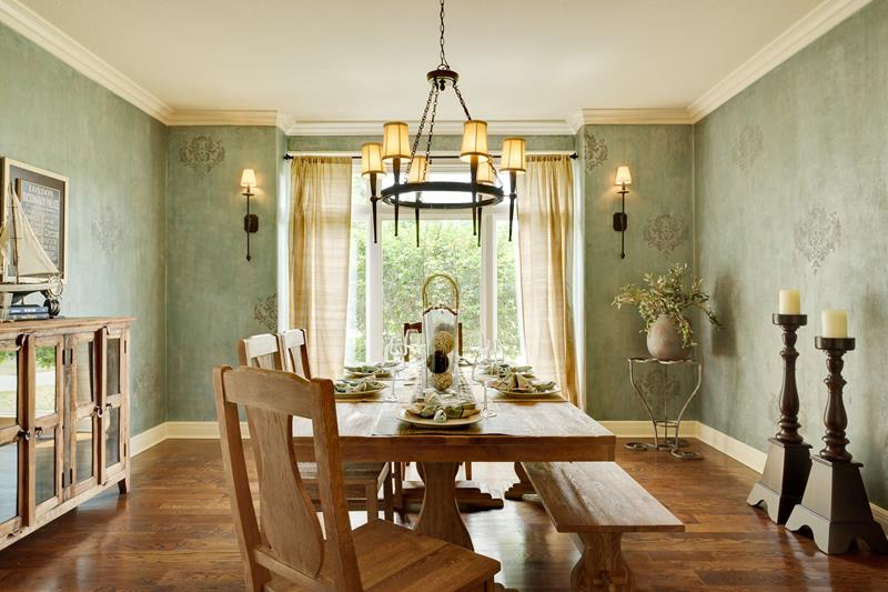 24 Country Dining Room Designs That Are So Inviting-14