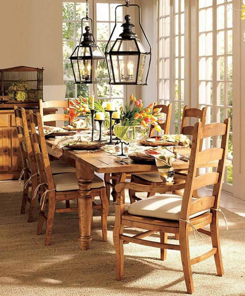 24 Country Dining Room Designs That Are So Inviting-8