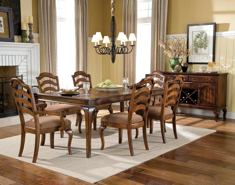 24 Country Dining Room Designs That Are So Inviting-9