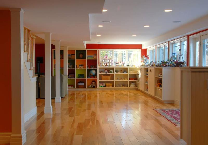 24 Finished Basements With Beautiful Hardwood Floors-1